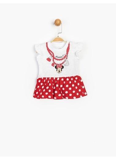Minnie Mouse Elbise Beyaz